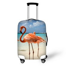 lamingo Print Travel Accessories Suitcase Protective Covers 18-32 Inch Elastic Luggage Dust Cover Case Stretchable