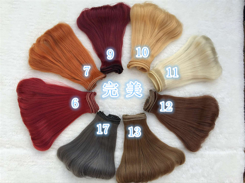 1/3 1/4 1/6 BJD Wigs inside bending Hair Extension Hair Piece For  BJD SD DIY Dollfie 1 pcs 15cm *100cm 25cm 100cm doll wigs hair refires bjd hair black gold brown green straight wig thick hair for 1 3 1 4 bjd diy