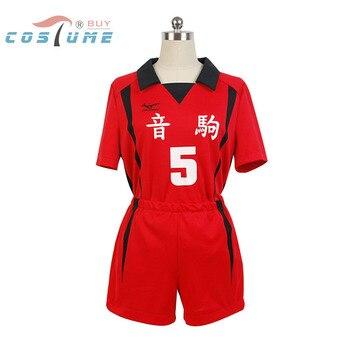 Haikyuu! Костюм для косплея Nekoma High School #5 Kenma Kozume, костюм из Джерси, размер XS-XXL