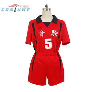 Haikyuu! Nekoma fantasia de cosplay #5 kenma, camisa roupa uniforme de equipe, tamanho XS-XXL
