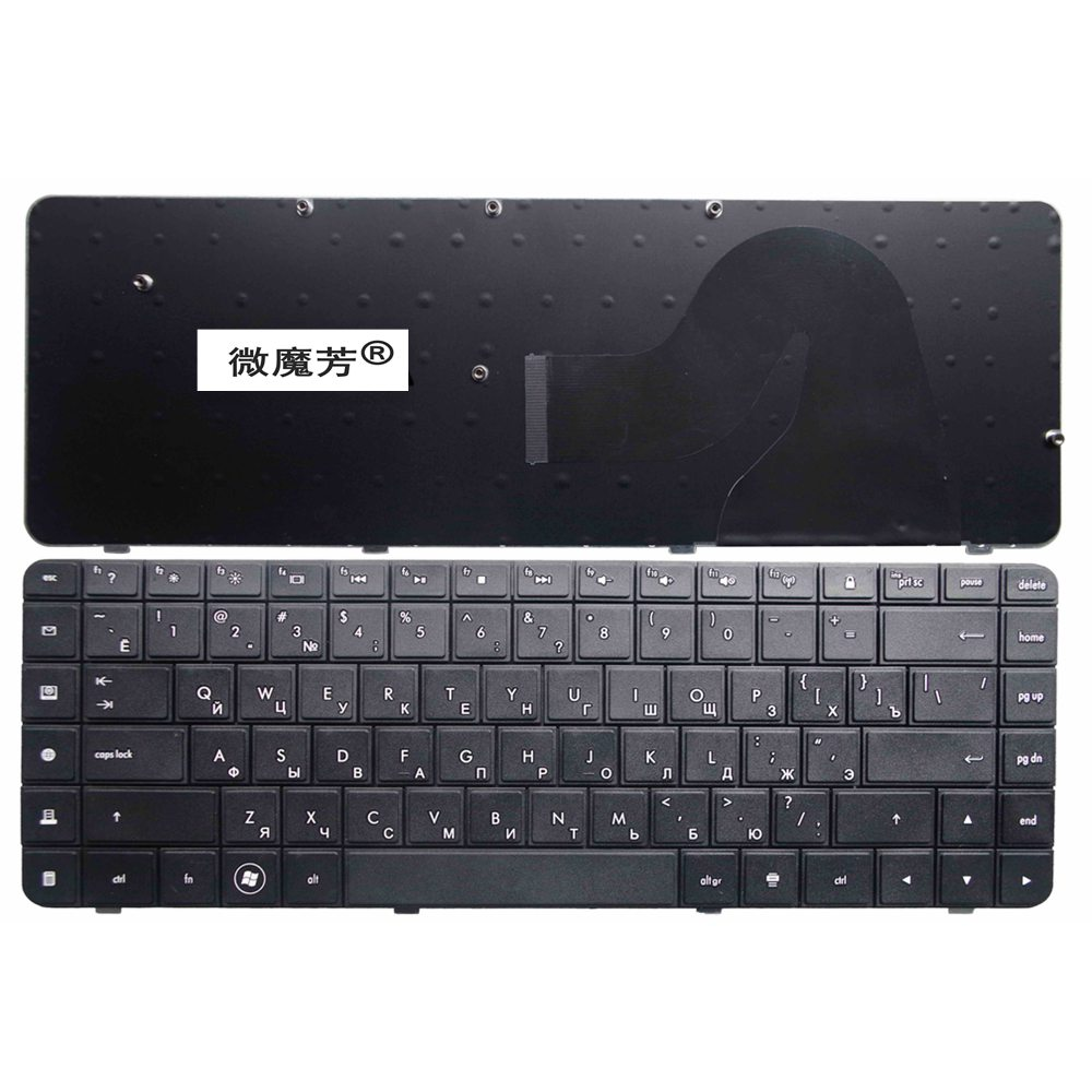 Russia For HP Compaq MP-09J83SU-886 605922-251 589301-251 V112346AS1 RU Laptop Keyboard AEAX6700110