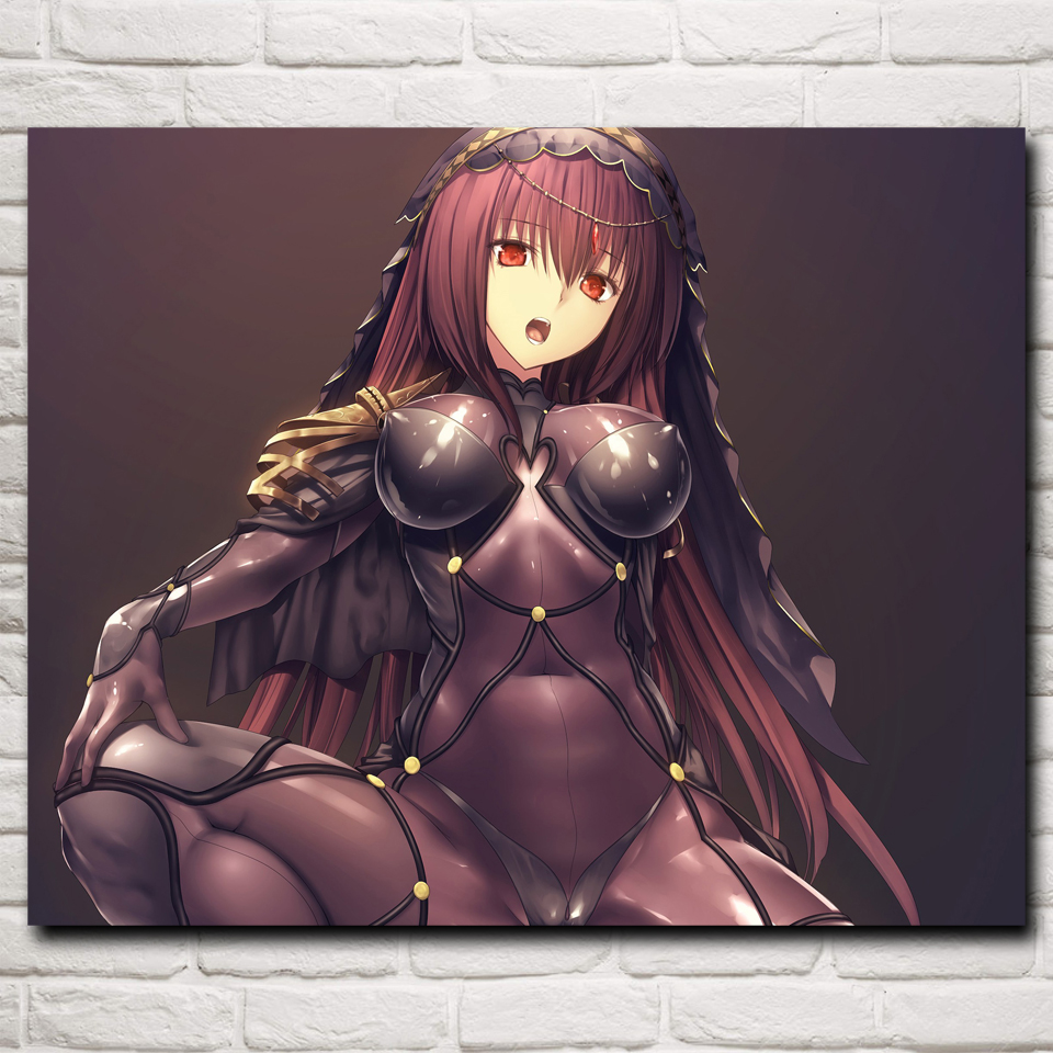 FOOCAME Anime Fate Series 2 Art Silk Posters and Prints Painting Home Decor Wall Pictures For Living Room 24x30 Inches