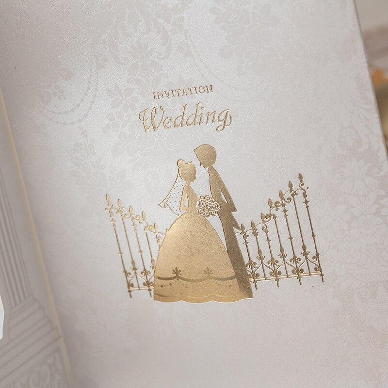 Fashion Wedding invitation Cards,Gold foiling frame church style ...