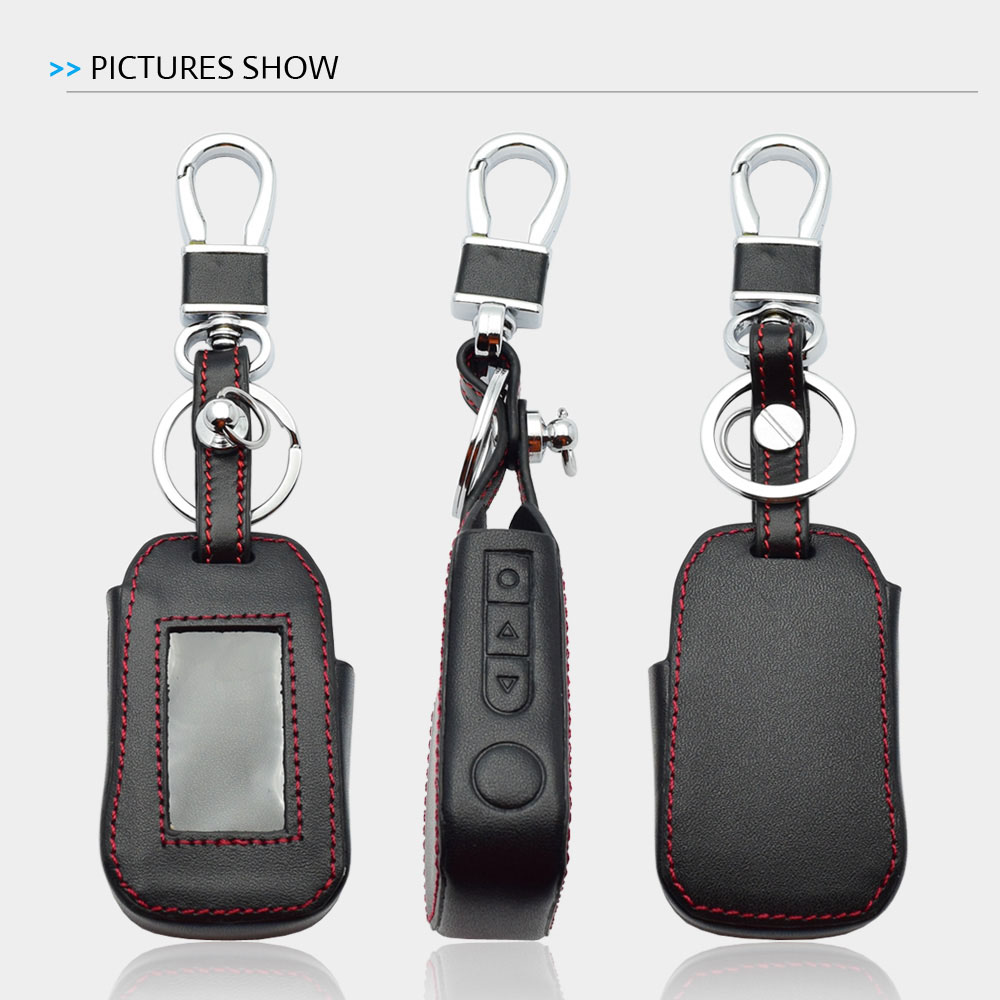 Image 4 - ATOBABI Leather Key Case For StarLine A92 A94 A62 A64 A95 Two Way Car Alarm LCD Remote Control Transmitter Keychain Cover Bag-in Key Case for Car from Automobiles & Motorcycles