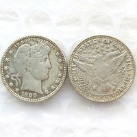 90 Silver 1900 Barber Quarter Dollars Retail Wholesale USA Copy Coins