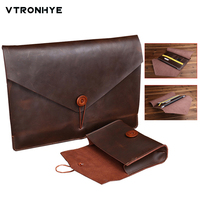 11 13 15.4 inch Genuine leather Laptop Bags for Macbook Pro 13 Touch Bar 2016 New Fashion Laptop Sleeve for Macbook Pro 15