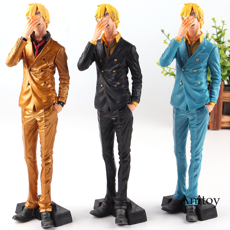 Anime One Piece Toy One Piece Action Figure Vismoke Sanji Figure Figurine King of Artist Toy Special Color Ver. 25.5cm