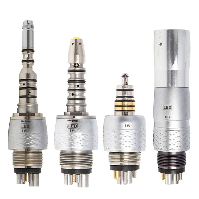 COXO ทันตกรรม Quick Connector Quick Coupler ทันตกรรม 6 หลุม Optical Quick Coupling สำหรับทันตกรรม Handpiece Turbine YUSENDENT