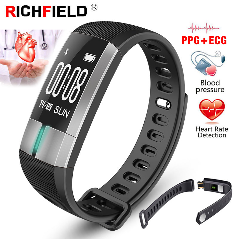 G20 ECG PPG Smart Watch Real-Time Monitor Blood Pressure Health Wristband Smartband Fitness Bracelet Activity Tracker Smart Band
