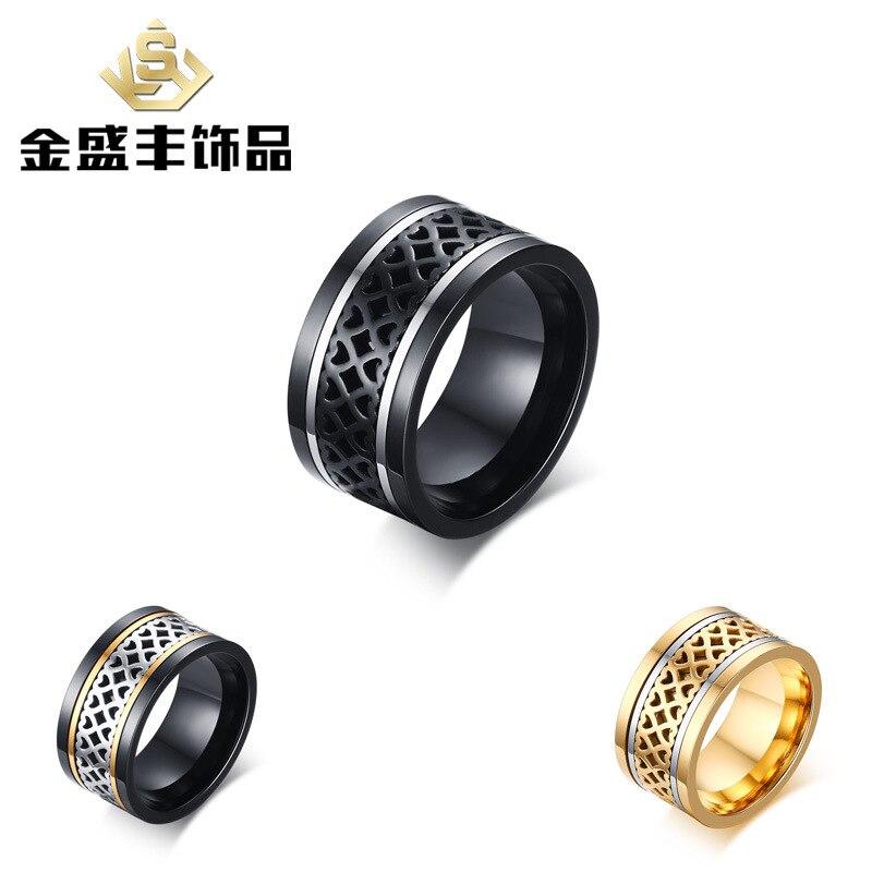 Kind-Hearted Julie Wang 12mm Mens Camera Rings Black Stainless Steel Slr Telephoto Camera Lens Ring Spinner Men Fashion Finger Jewelry Rings