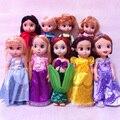 Sharon Boneca Princesa Sofia princesa Animadores Rapunzel Merida Branca de Neve Ariel Belle Cinderela Aurora Princesa dolls para a Menina