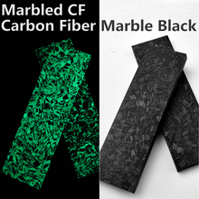 Marbled CF Luminous Carbon Fiber Board Marble Pattern Forged Chaotic Resin Handle Material