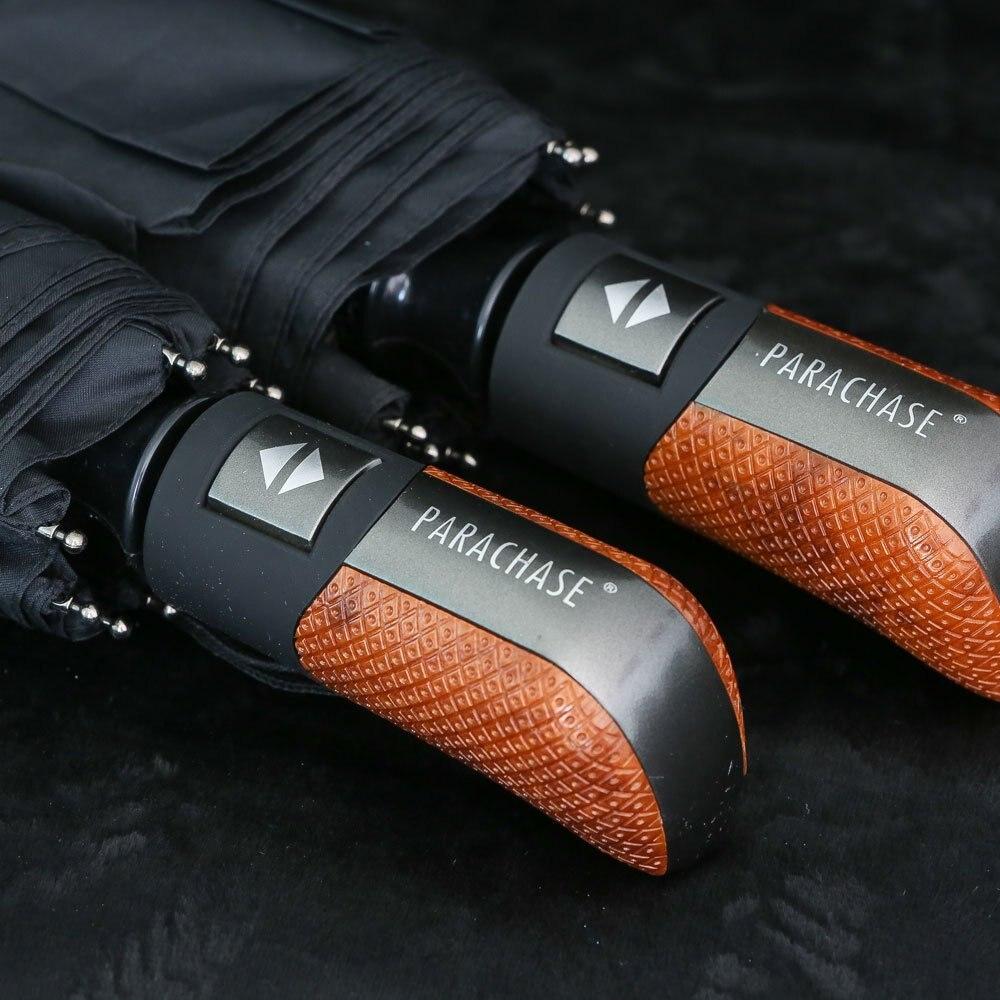 Parapluie pliant automatique hommes pluie qualité coupe-vent uv grand paraguay mâle rayure parapluie 4 couleurs recommander