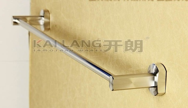 aluminum single bar bath towel rack towel bar and holder 60cm bathroom fixture