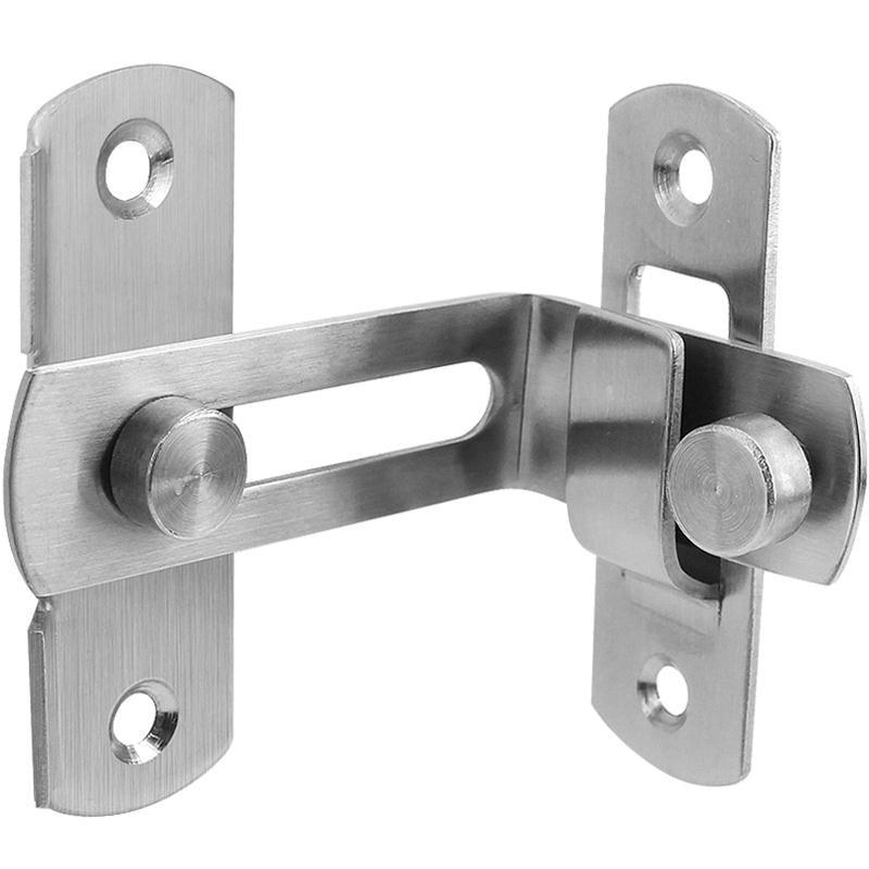 2 Stk 80mm Lange Schrank Tür Sicherheits Edelstahl Vorhängeschloss Haspe Klammer