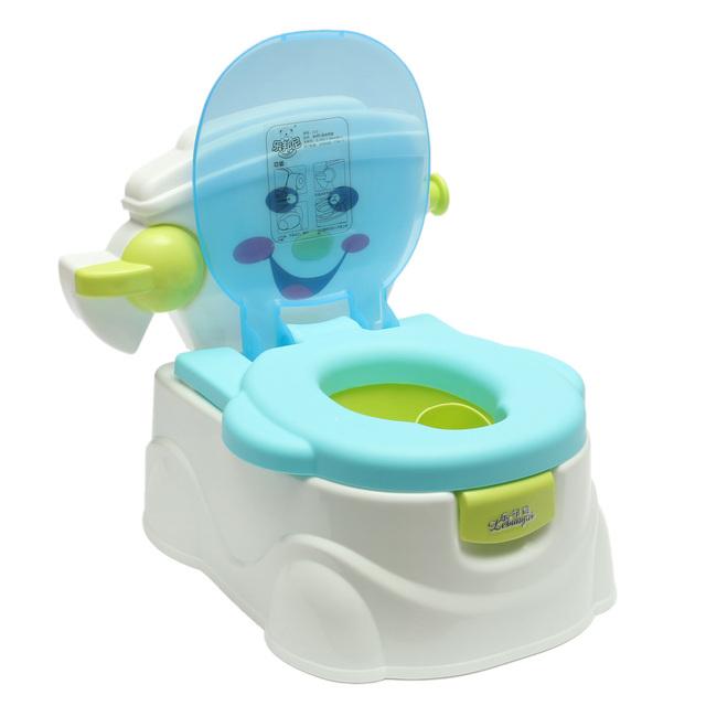 Portátil Assento Do Bebê Potty Pee Instrutor de Puxar o Cilindro Criança Baby Kid Aprendizagem Seguro Higiênico Toilet Training Exercise Nenhuma Música
