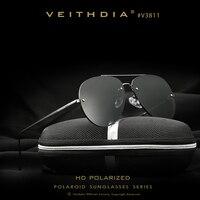 VEITHDIA Brand Rimless Fashion Unisex Sun Glasses Polarized Coating Mirror Sunglasses Oculos Male Eyewear For Men