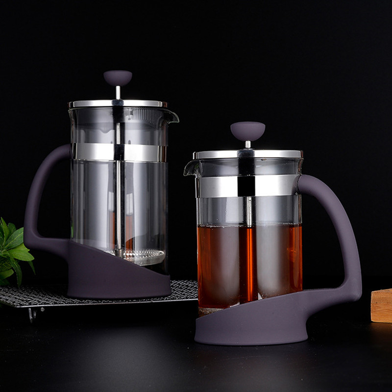 600ML 1000MLPuer teapot compressed thick teapot high quality glass stainless steel pot tea container utensils home in Teapots from Home Garden