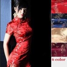 Красное сексуальное китайское платье, китайское красное платье в восточном стиле, атласное китайское стильное современное платье cheongsam, Восточное шелковое платье