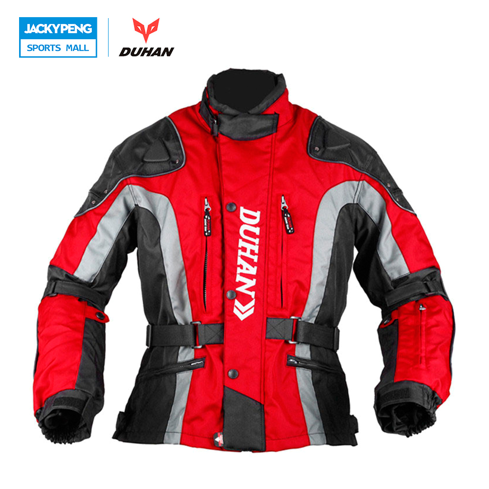 DUHAN Men's Oxford Cloth Riding Motocycle Racing Jacket Coat with Cotton Liner Motocross Windproof Clothing Five Protector Gear duhan oxford cloth motorcycle jacket motocross off road racing jacket men rider clothes with five pcs protector gurds