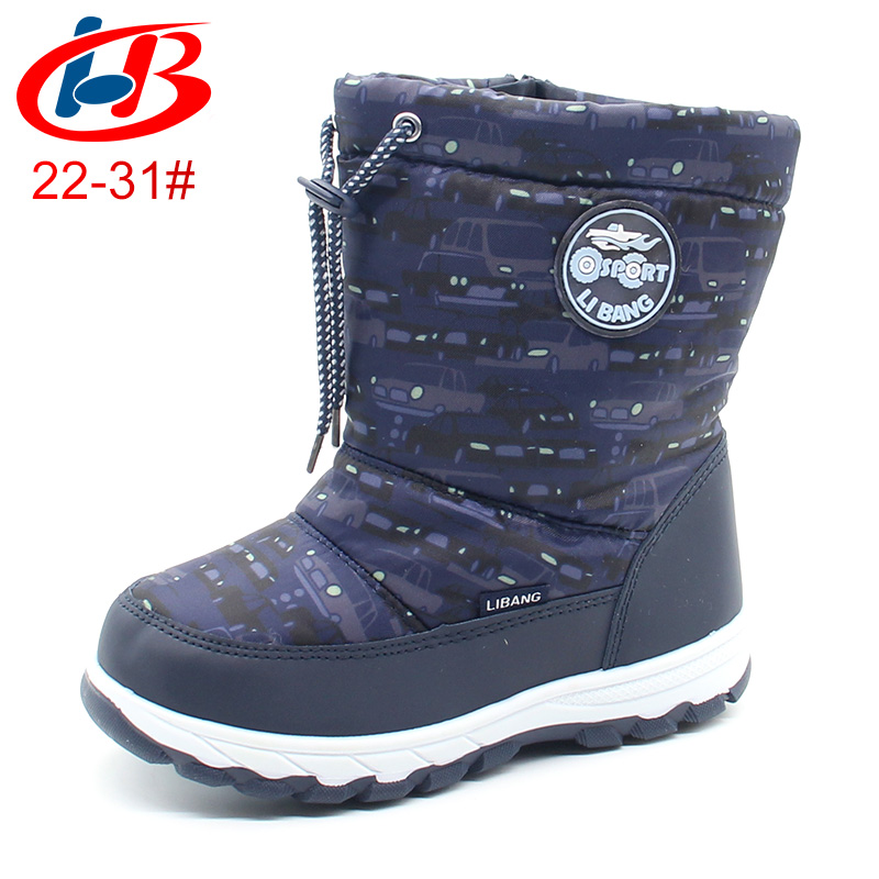 Libang Winter Boots for Boys Warm Waterproof Snow Boots Little Boys Toddler Kids Mid-Calf Soft Anti-slip Winter Shoes for Boys libang кеды