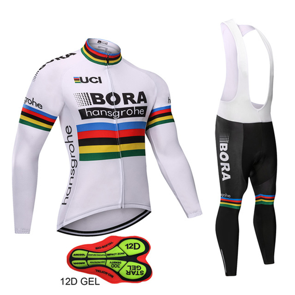 Ropa Ciclismo 2018 BORA Pro Cycling Jersey 12D Men Pro Team Long Sleeve Set MTB Bike Clothing Breathable Sportswear Pants cheji team pro team sportswear long sleeve ropa ciclismo cycling jersey bicycle bike mtb cycle clothing 6d padded pants sets