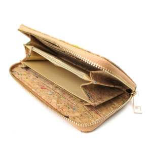 Image 3 - Rustic Natural Color Long Women Cork Wallet Vegan Credit Card ID Holder Classic Women Wallet