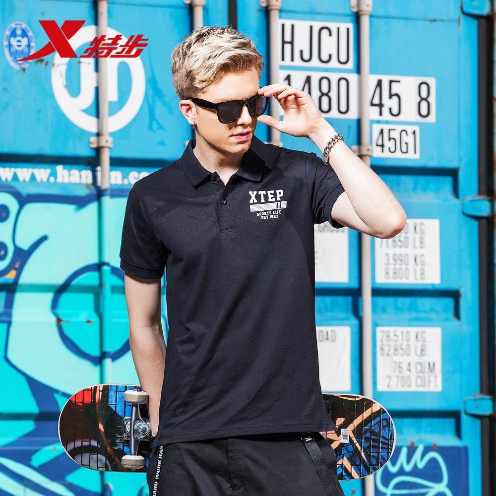882229029209 Xtep Urban Fashion Short Sleeve Lapel Man Golf T Shirt POLO Clothing