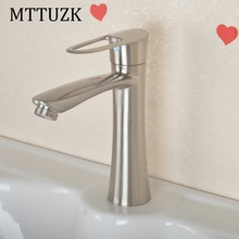 MTTUZK Stainless steel single handle single hole single cold noodle faucet toilet wash basin faucet ceramic basin tap torneira