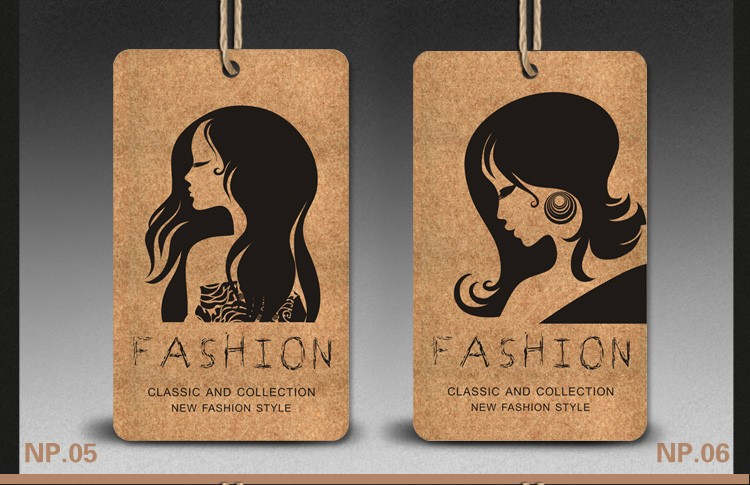 21355inch 500pcscustom Logo Brand Name Hair Paper Price Tags
