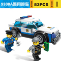 9308A GUDI City Series 83Pcs Police Cared Man Cops Vehicle Diy Educational Bricks Building Block Kids Toy Compatible With Legoe