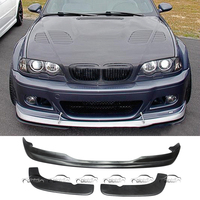 Express shipping 3 PCS AC Style Car Styling PU Material Front Lip Bumper Spoiler For BMW E46 2001 2006 Original M3