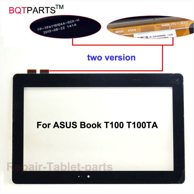 BQT For ASUS Transformer Book T100 T100TA touch screen Glass Panel Digitizer with 10.1 inch Touchscreen new for asus eee pad transformer prime tf201 version 1 0 touch screen glass digitizer panel tools