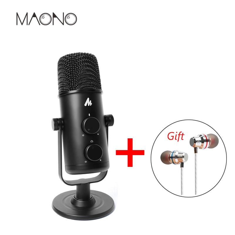 MAONO USB Microphone Omnidirectionnel Studio Microphone Professionnel Condender Microphone Ordinateur Mic pour Youtube Podcast de Jeu