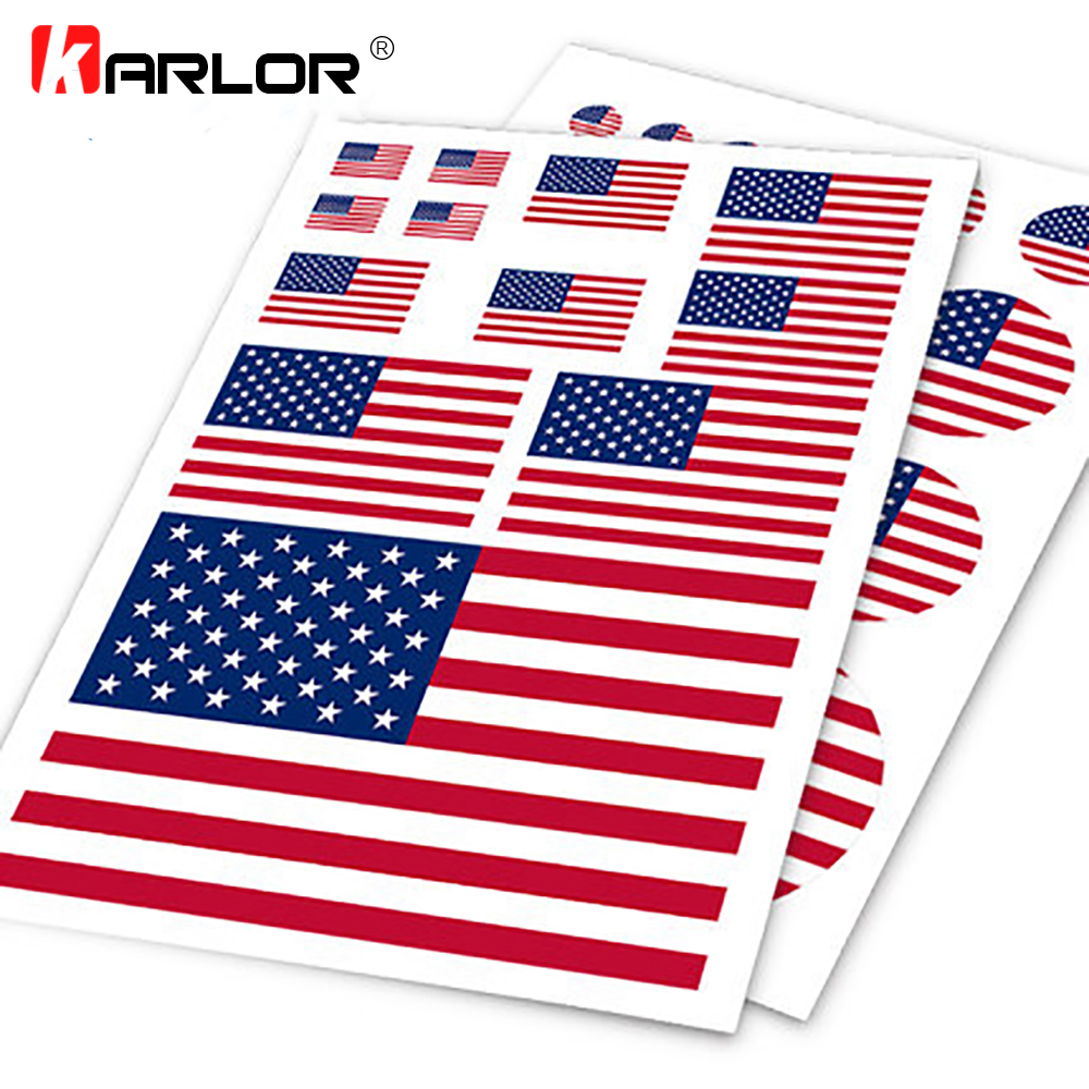 USA Flag United States US Ho Car Auto Motorcycle Logo Decal Set Sticker Scratch Off Cover Ipad Notebook Laptop Handy Car Styling