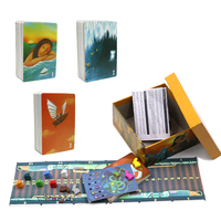 2019 story dixit board game deck 1 2 3, 252 cards hard paper box wooden bunny English&Russian rules card game for family kids