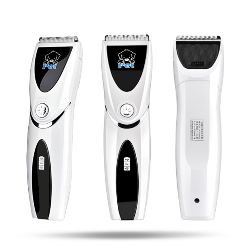 Professional Pet Dog Hair Trimmer Clipper Rechargeable Animal Electric Cat Grooming Hair Cutter Shaver Razor yuho yh 638 15w electric pet hair clipper set for dogs black silver