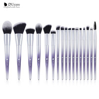 DUcare 17pcs New Makeup Brushes Set Powder Foundation Eye Shadow Blush Eyebrow Makeup Brushes Cosmetic Make