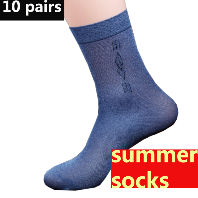 a63d9c87e 20 pieces=10 pairs Men's socks Solid Color in Tube socks men Business Silky  Classic