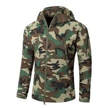 XS-5XL 145 см бюст V5.0 Тактический Открытый кожа акулы, флисовая куртка Для мужчин охота куртка камуфляжной расцветки с капюшоном Для женщин кемпинг куртка для альпинизма