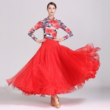 rumba costumes waltz long dance dresses women ballroom clothes standard flamenco dress for sale