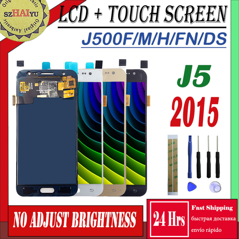 SZMUGUA SM-J500FN/F/M/H/DS Für <font><b>Samsung</b></font> Galaxy J5 2015 J500 Touch Sreen + <font><b>LCD</b></font> display <font><b>J500H</b></font> J500FN J500F J500M/DS Screen Panel image