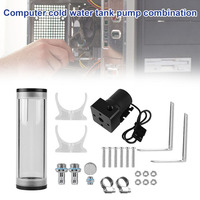 PC Water Cooling 160mm Tank Cylinder Reservoir Pump Combo Set 19W 800L/H for CPU GDeals