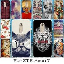 Akabeila Чехол для мобильного телефона ZTE Axon 7 A2017 Чехол чехол Защитный В виде ракушки кремния Мягкие TPU Жесткий Пластик сзади