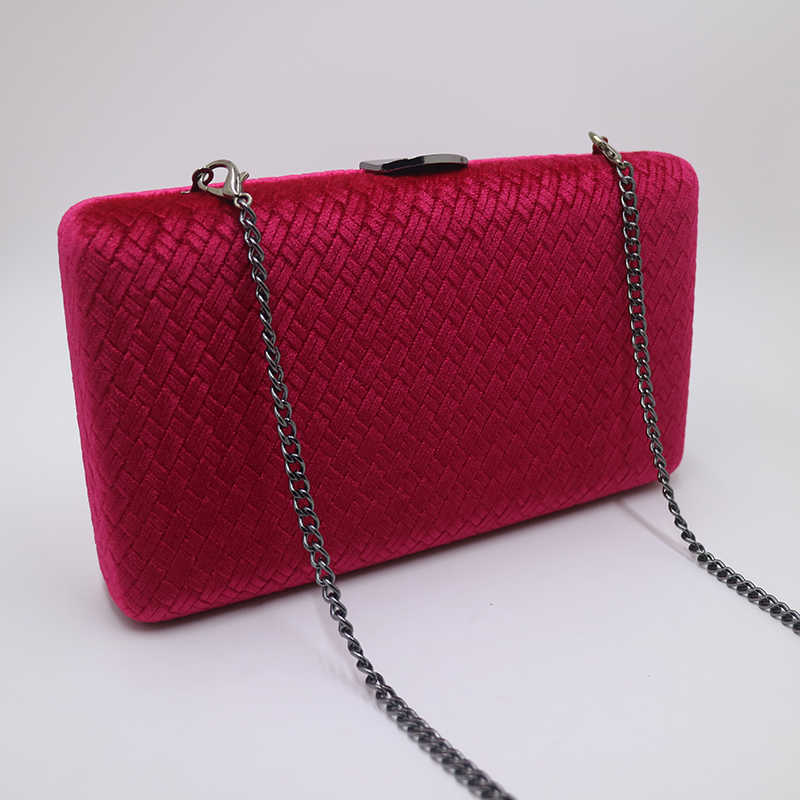 46eddb471f ... Royal Nightingales Weave Velvet Suede Hard Box Clutch Bags Evening Bags  and Handbags for Womens Red ...