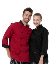 Man Long Sleeve Double-Breasted,Comfortable Fabrics Chef Jackets,Chef's Kitchen Work Wear, Chef's Uniform,Free Shipping,C05