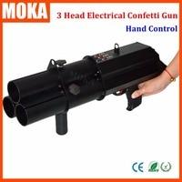 1 Pcs 3 head confetti gun Trigger Electric confetti cannon confetti fx shooter hand control wedding confetti maker for dj live