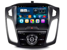 For 9″ 4-Quad core 1024X600 touch screen Android 4.4 Car multimedia gps navigation for Ford focus Ford 3 with OBD2 Mirror Link