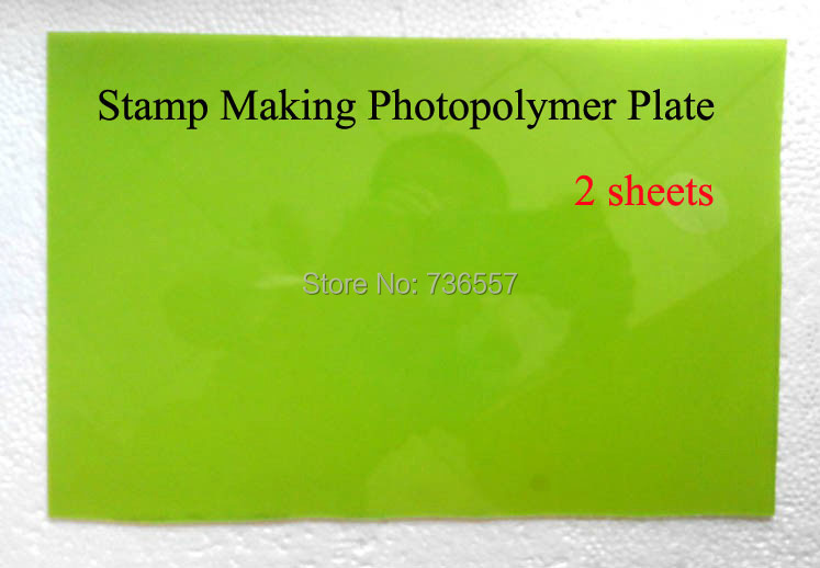 2 pcs Free Shipping Photopolymer Plate Stamp Making DIY Letterpress Polymer Stamp Maker Systerm free shipping chicks and eggs pattern mini diy soap stamp chaprter seal 5 5 2cm