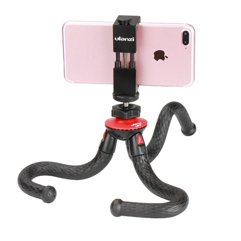 Ulanzi Octopus Flexible Trépied avec 360 Panoramique Rotule pour iPhone, trépied Manfrotto pour Nikon Canon DSLR Caméra Gopro Hero 6 5